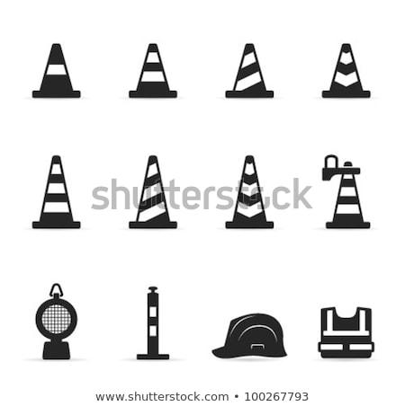 Ikon forgalom kúp vékony vonal terv Stock fotó © angelp