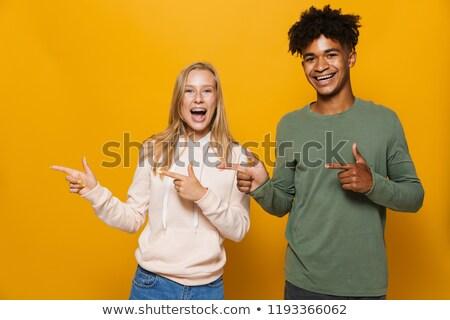 фото счастливым друзей человека женщину стоматологических Сток-фото © deandrobot