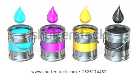 Metal renk damla 3D örnek Stok fotoğraf © djmilic