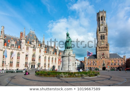 The belfry of Bruges is a medieval bell tower Stock photo © artjazz