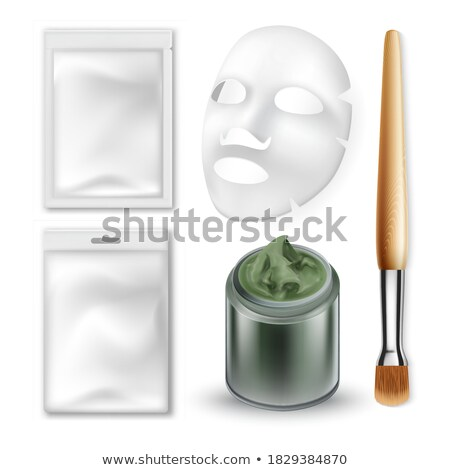 Cosmetician Cosmetic Care Treatment Set Vector Stock photo © robuart