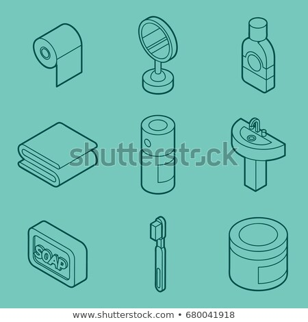 ストックフォト: 個人衛生 · アイソメトリック · セット · eps · 10 · 健康