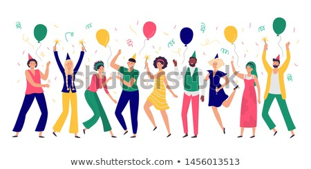 Vállalati buli emberek ünnepel csapatmunka vektor Stock fotó © robuart