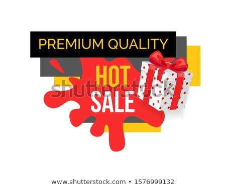 Premie kwaliteit producten gekocht verkoop winkel Stockfoto © robuart