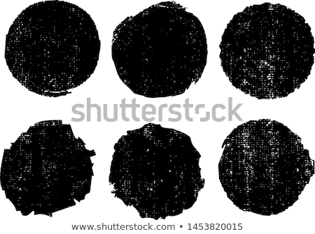 Black Abstract Circle Badge with Grunge Texture Stock photo © molaruso