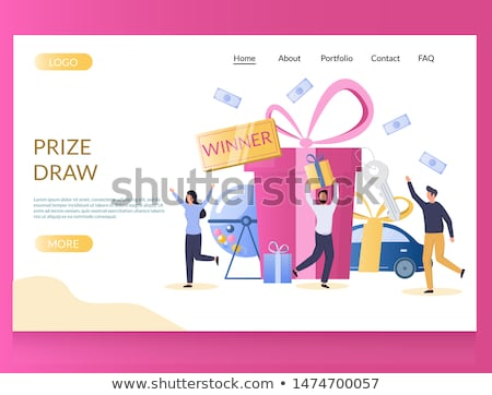 Lottery game landing page template. Stock fotó © RAStudio