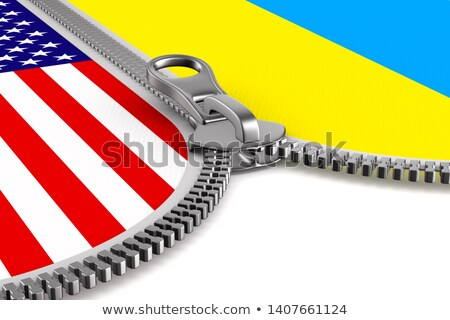 Bandeira EUA Ucrânia zíper ilustração 3d trabalhar Foto stock © ISerg