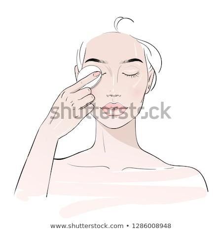 örnek sevimli bayan yıkama yüz kız Stok fotoğraf © Blue_daemon