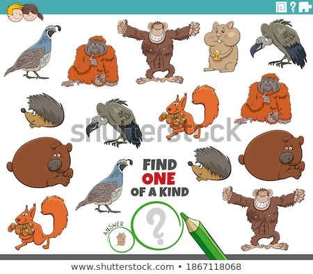 one of a kind task for kids with animals Stock photo © izakowski