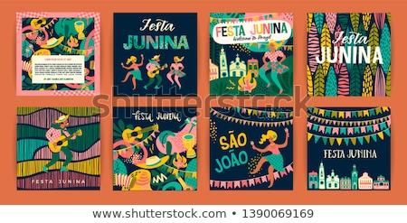 Americano celebración banner baile color carnaval Foto stock © SArts