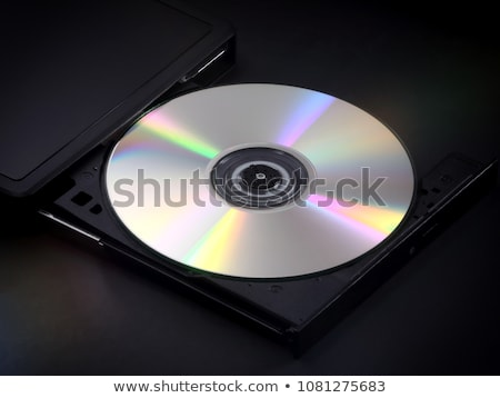 ポータブル オプティカル ディスク ドライブ usb 白 ストックフォト © magraphics
