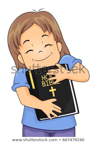 Nino nina Biblia ilustración cute Foto stock © lenm