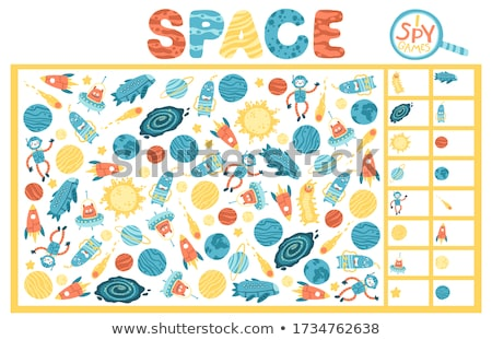 Astronauts and aliens on the same planet Stock photo © colematt
