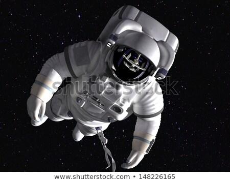 astronauta · flutuante · espaço · projeto · estrelas · noite - foto stock © robuart