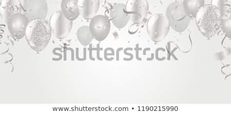 glanzend · gouden · ballonnen · confetti · poster · vector - stockfoto © marysan