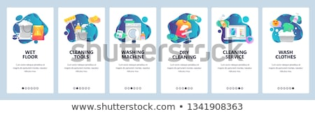 Stock photo: Laundry Service Vector Onboarding