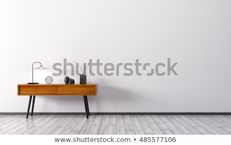 White wood nightstand Stock photo © magraphics