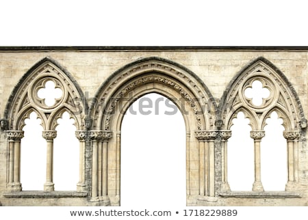 vitray · pencere · haç · kilise · eski · iç - stok fotoğraf © albund