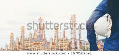 image of engineer or architectural project close up of engineer stock photo © freedomz