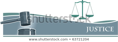 attorneys suit law books a gavel and scales of justice on a w stock photo © freedomz