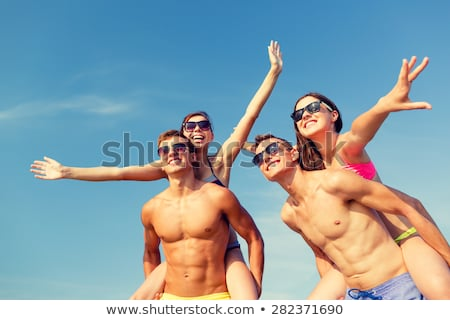 summer vacation holiday of people by seaside stock photo © robuart