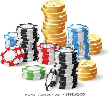 Kaszinó főnyeremény hazárdjáték sültkrumpli halom érmék Stock fotó © Winner