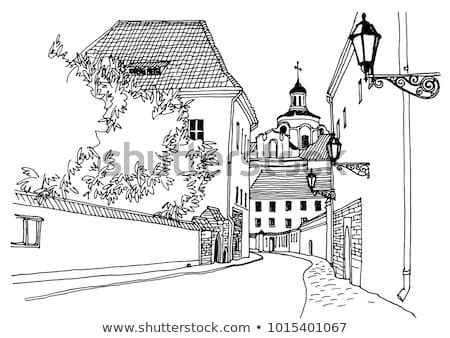 Street of Old Town, City with Architecture Vector Stock photo © robuart