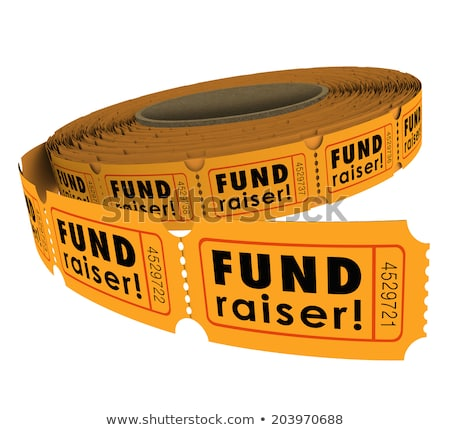 For a Good Cause Raffle Tickets Fundraiser 3d Illustration Stock photo © iqoncept