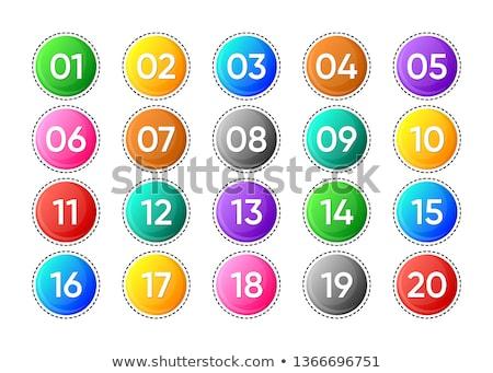Húsz vektor számok ikonok izolált fehér Stock fotó © blumer1979