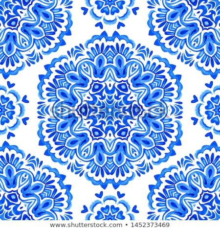 Ontwerp Blauw illustratie frame teken yoga Stockfoto © bluering