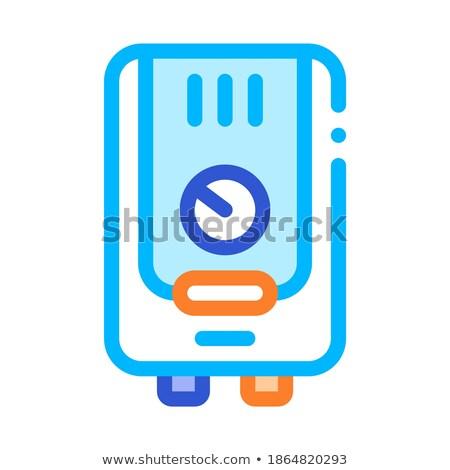 Verwarming uitrusting vector icon dun lijn Stockfoto © pikepicture