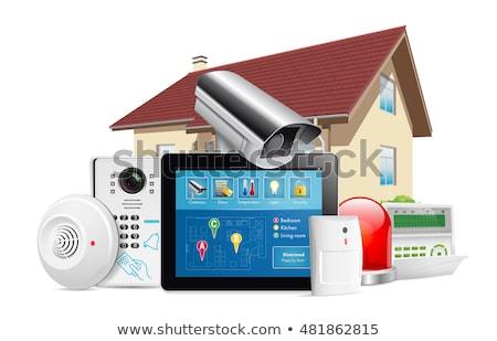 Mozgás szenzor otthon biztonság vektor illusztráció Stock fotó © konturvid