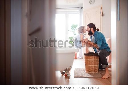 Padre hija familia infancia paternidad Foto stock © dolgachov