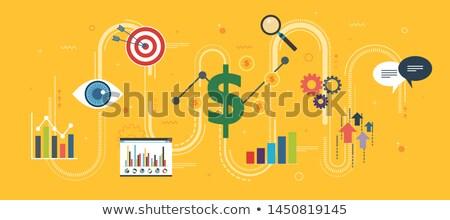 Groei grafiek startup iconen geld winst Stockfoto © cifotart