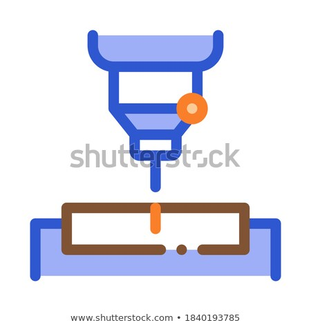 Factory Drilling Metallurgical Icon Vector Illustration Stock photo © pikepicture