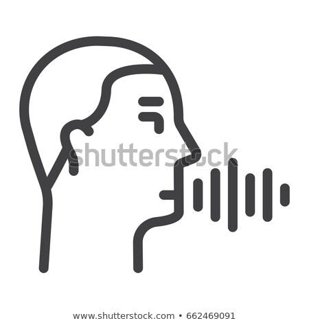 Veiligheid stem controle icon vector dun Stockfoto © pikepicture