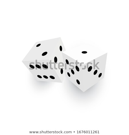 Kumarhane zarlar oynama numara vektör Stok fotoğraf © robuart