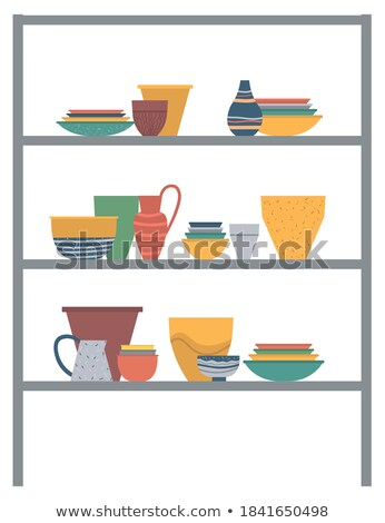 Containers for Kitchen, Plates and Vases, Jars Stock photo © robuart