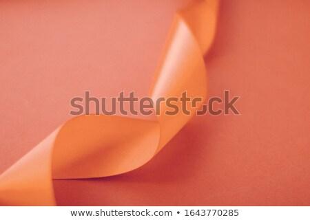 Streszczenie jedwabiu wstążka pomarańczowy ekskluzywny Zdjęcia stock © Anneleven