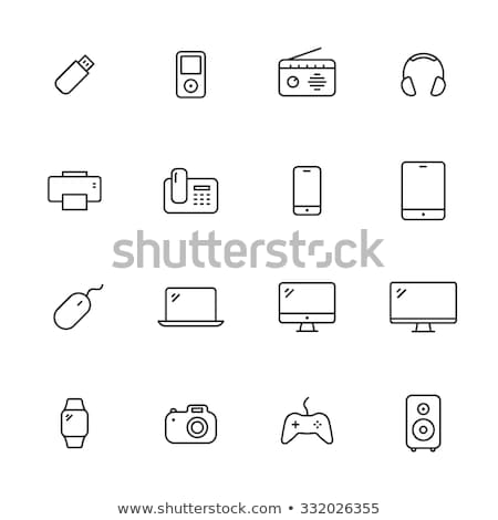 Digitalen Fernmeldewesen Symbol Vektor Gliederung Illustration Stock foto © pikepicture