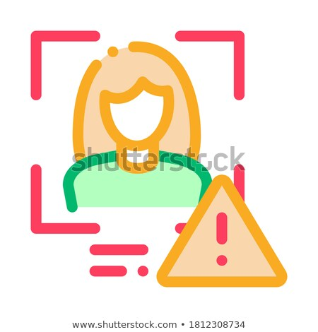 Identity Alert Woman Icon Vector Outline Illustration Stock photo © pikepicture