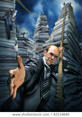 Businessman inviting you to climbing up Stock photo © nomadsoul1