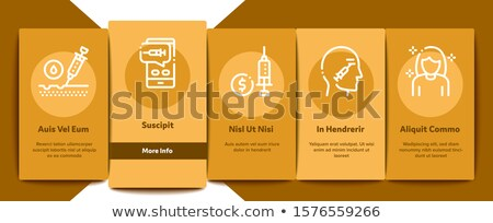 Injections Onboarding Elements Icons Set Vector Stock photo © pikepicture