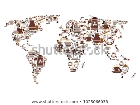 Coffee Machine For Brew Hot Drink Poster Vector Stock photo © pikepicture