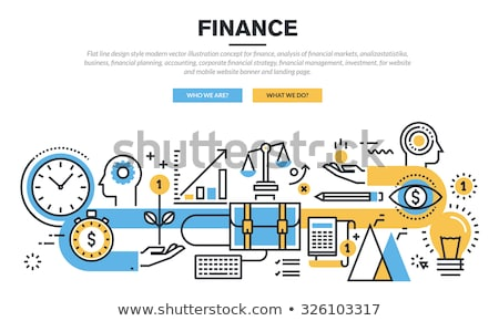 Bank Services Financial Advertising Banner Vector Stock photo © pikepicture