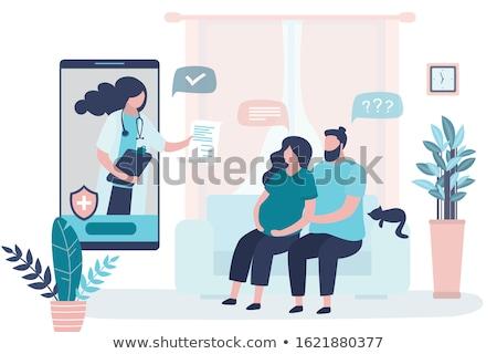 Pregnant woman in the prenatal hospital stock photo © Anna_Om