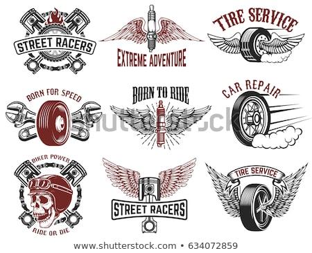Chave de fenda carro pneu compras automático serviço Foto stock © dolgachov