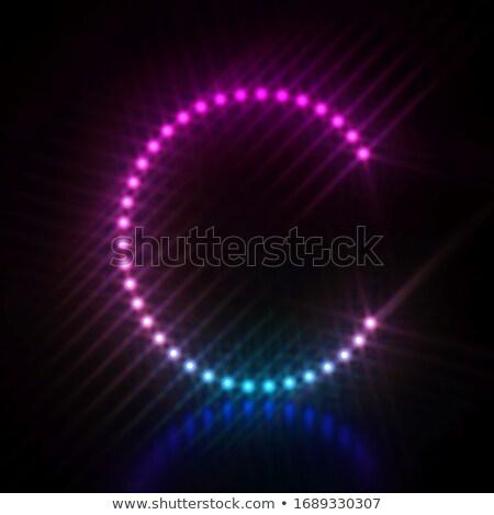 Rózsaszín kék pont fény betűtípus c betű Stock fotó © djmilic