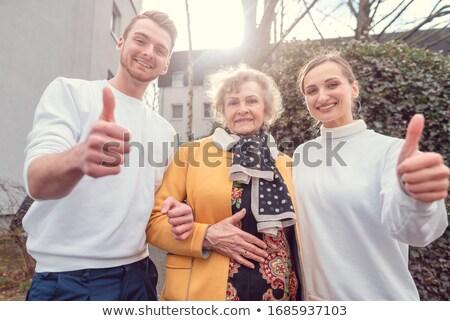 Kettő társasági szolgáltatás idős hölgy remek Stock fotó © Kzenon