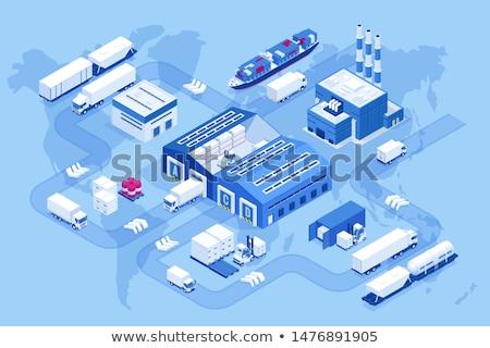 Global ticaret dağıtım lojistik soyut vektör Stok fotoğraf © RAStudio